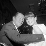 Audrey Hepburn with Rex Harrison at the New York Premier of My Fair Lady, October 1964 Stampa fotografica