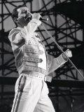 Queen, Freddie Mercury på konsert ved St. James Park i Newcastle, 1986 Fotografisk trykk
