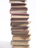 Stack of Old Hardcover Books Photographic Print