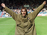 Liam Gallagher at Manchester City V Portsmouth Match, Maine Road Football Ground, August 1997 Lámina fotográfica
