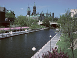 Beautiful Rideau Canal in Ottawa, Ontario, Canada Photographic Print