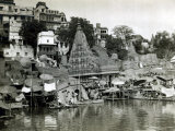 Temples on the River Ganges at Banares (Now Known as Varanasi), India, August 1911 Photographic Print