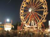 Ferris Wheel at Night Photographic Print