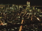 New York City Bustling at Night Photographic Print