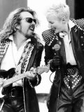 Eurythmics at the Nelson Mandela Concert with Annie Lennox and Guitarist Dave Stewart Lámina fotográfica