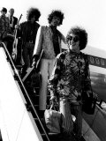 The Jimi Hendrix Experience Arriving at Lap, August 1967 Photographic Print