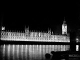 Big Ben and the Houses of Parliament Lit up at Night, 1951 Photographic Print