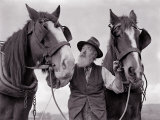 A Farmer with His Horses, 1962 Photographic Print
