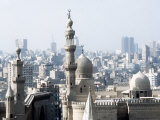 Cairo City, the Mosque of Sultan Hassan Fotografisk tryk