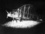 British Bi-Plane Bomber Prepares for a Night Raid During World War One, 1918 Photographic Print