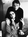 Richard Burton with Elizabeth Taylor, August 1984 Fotografisk trykk