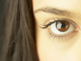 Woman's Brown Eye Photographic Print