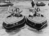 Electric Motor Boats at Dreamland Amusement Park Margate Kent Photographic Print