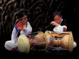 Women Playing Traditional Music Photographic Print