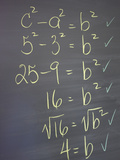 Algebra Equation on Blackboard Photographic Print