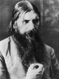 Grigori Rasputin Russian Mystic and Court Favourite in 1908 Lámina fotográfica