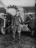 Charles Augustus Lindbergh American Aviator in Flying Clothes Lmina fotogrfica