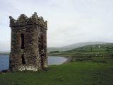 Building and Landscape in Ireland Photographic Print