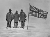 Ernest Shackleton&#39;s Expedition Reached Within 100 Miles of the South Pole Fotografie-Druck