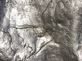 Close-up of Rough Texture on Shiny Metallic Surfaces Photographic Print