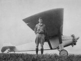 Charles Augustus Lindbergh American Aviator with His Ryan Monoplane the Spirit of St. Louis Photographic Print
