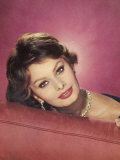 Sophia Loren Italian Film Actress in a Glamorous Pose Photographic Print