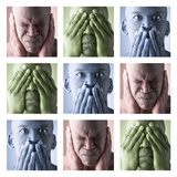 Hear No Evil, See No Evil, Speak No Evil Fotografie-Druck