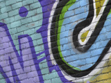 Closeup of Graffiti Lámina fotográfica