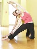 Women Doing Yoga Photographic Print