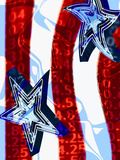 Patriotic Stars and Stripes with Numbers Photographic Print