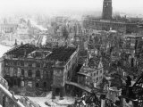 Dresden Devastated after the Allied Bombing Campaign Had Created a Firestorm Photographic Print
