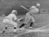 Baseball Match Between USA and Sweden Photographic Print