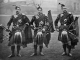 Bagpipers of the 1st Scots Guards Fotografie-Druck