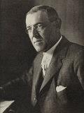 Woodrow Wilson American President and Nobel Prizewinner in 1919, Giclee Print