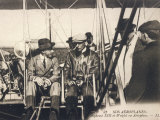 Wilbur Wright Shows His Plane to Alfonso XIII of Spain at the Ecole d'Aviation Pau France Photographic Print