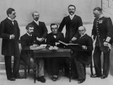 1896 Olympic Committee: Baron Pierre de Coubertin is Second from the Left Photographic Print