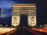 Arc De Triomphe at Night Photographic Print