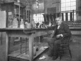 Thomas Alva Edison in His Workshop Photographic Print