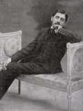 Marcel Proust French Writer Relaxing on an Ornate Sofa Photographic Print by Otto-pirou