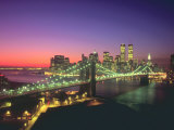 New York City Skyline and the Brooklyn Bridge Photographic Print