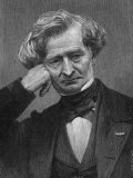Hector Berlioz the French Composer in Middle Age Fotografisk tryk