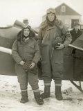 Lindberghs at New York Lámina fotográfica