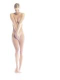 Nude Woman Covering Herself - Fotografik Baskı