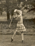 Diana Fishwick in Action at Stoke Poges Where She Won a Championship in 1927 Photographie