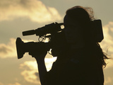 Silhouette of Cameraman Photographic Print
