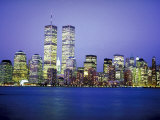New York City Skyline at Night Photographic Print