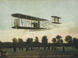 Beautiful Shot of Wilbur Wright Making a Demonstration Flight at Auvours Photographie