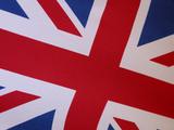 Detail of British Flag Fotografisk tryk