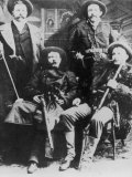 The James-Younger Gang (L-R): Cole Younger Jesse James Bob Younger Frank James Fotografie-Druck