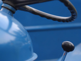 Steering Wheel and Gear Shift on Tractor Photographic Print